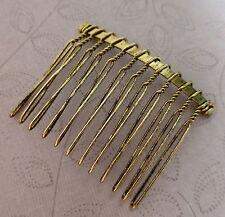 10 pcs-antique gold hair combs 37x49mm petit, léger secondes