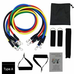 11pcs Set Resistance Bands Latex Tubes Pull Rope Gym Home Leg Training Fitness