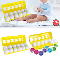 Toddlers Montessori Shape & Color Eggs Sorter Matching Egg Educational Toys