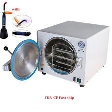 18L 900W Medical Steam Sterilizer Dental Equipment autoclave Pressure +Gift Sale