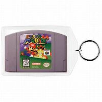Nintendo 64 N64  SUPER MARIO 64 & MARIO KART CARTRIDGE  Keychain New #1