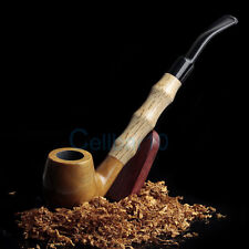High Quality Wood Wooden 215mm Smoking Tobacco Pipe With 9mm Carbon Filter+Pouch