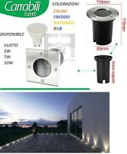 FARETTO INCASSO LED DA ESTERNO SEGNAPASSO CALPESTABILE 3 LED 3w IP67 220V
