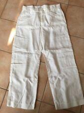 MAC material de las bragas mujer pantalones Blanco Lino 3/4 36/25 NUEVO 294-010