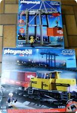 Playmobil Eisenbahn Diesellok 5258 mit Licht-Verlade terminal-und viel Tut-Tut!