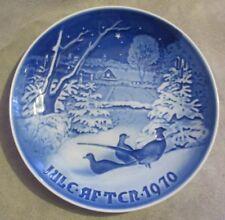 "B&G Bing & Grondahl Denmark Christmas Plate 1970 ""Christmas Pheasants"" #9070"