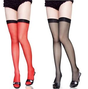 Sexy Cute Black Top Stay Up Thigh-Highs Tights Stockings Pantyhose-2 Colors 2030