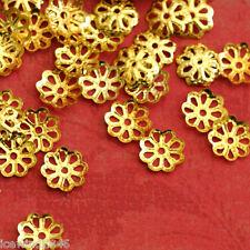 Sale 200pcs Golden Finish Filigree Bead Caps 7mm A05