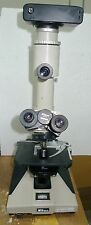 Nikon Optiphot Trinocular Microscope W Hfx Ii 125 Condenser Filters Nd2 Ncb10