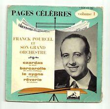 """POURCEL Franck Vinyle 45T 7"""" EP PAGES CELEBRES N°1 CZARDAS - VOIX DE MAITRE 174"""