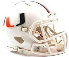 Miami Hurricanes Riddell NCAA College Football Team Speed Mini Helmet