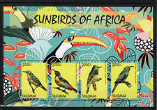 Tanzania 2014 MNH Sunbirds of Africa 4v MS Birds Fraser's Sunbird Stamps