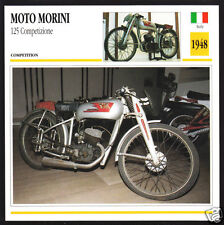 1948 Moto Morini 125cc Competizione Italy Race Motorcycle Photo Spec Info Card