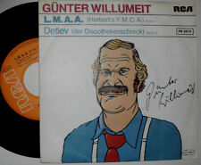 "GÜNTER WILLUMEIT L.M.A.A. / DETLEV 7 "" SINGLE MIT AUTOGRAMM SIGNED"