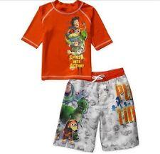 TOY STORY Rashguard Shirt Swim Trunks Set Boy's 8 NeW Swimtrunks Board Shorts