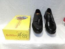 Original Vintage Men'S Chippewa Leather Office Work Shoes Usa New Old Nos 11 1/2