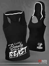 PIMD Women Vest With Hood - Black Running Racer Back Gym Sports Top Workout Yoga