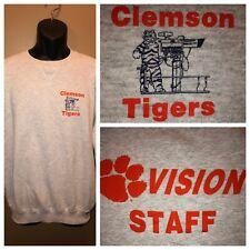 VTG 80s 90s CLEMSON TIGERS VISION STAFF 50/50 Sweatshirt Russell Athletic USA XL