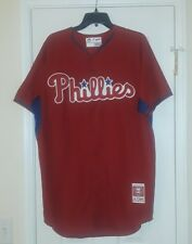 Majestic MLB Philadelphia Phillies Jersey Cool Base Red Size 44