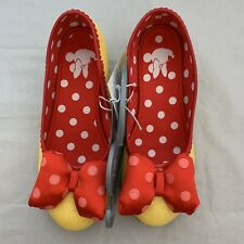 Disney Store Minnie Mouse Yellow Costume Shoes Dress Up Pink Polka Dot Red Bow 2
