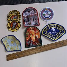 New listing vtg patch applique iron sew lot of fire fighters house burien puget sound 8992