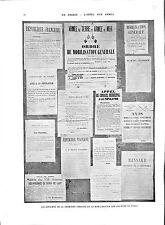 WWI Affiches de la Première Semaine de Mobilisation Murs de Paris B ILLUSTRATION