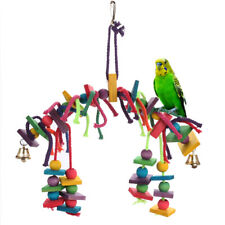 Bird Toy for Parrot Parakeets Conures Cockatiels Cage Chew Wooden Fun Play Toy