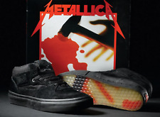 METALLICA VANS Size 9 US NEW 20 years half cab SKATEBOARD Shoes Black Mens NIB