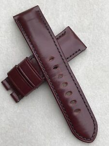 Officine Panerai Oxblood Bordeaux Strap 24mm 4 44mm Luminor 1950 Radiomir 1940