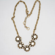 Banana Republic Jewelry Antique Matte Gold Plated Cut Crystals Collar Necklace