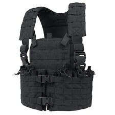 CONDOR Black CS Modular MOLLE PALS Chest Rig w/ Magazine & Hydration Pouch