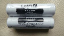 2 x 14500 3.7V AA batteria al litio ricaricabili lefire x 2pcs.