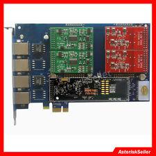 AEX410 +EC module,2FXO+2 FXS Voice Analog Card FXO Card FXS Card tdm400 tdm card