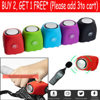 Bicycle Bell 120db Waterproof Cycling Bike Bells Electric Horn Mini Portable