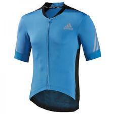Adidas Supernova Manche Courte Hommes Cyclisme Maillot Bleu S