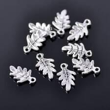 50pcs 15x9mm Tibetan Silver Small Leaves Metal Beads Craft Findings Pendants 33#
