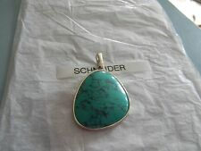 Premier Designs CABO silver turquoise enhancer pendant RV $33 FREE ship nwt