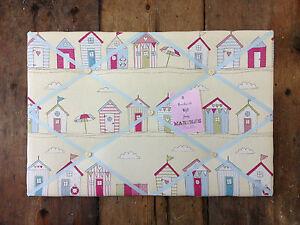 Beach Huts Pin/memo/noticeboard Girls Gift bedroom Christmas Xmas Kitchen Choice