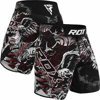 RDX MMA Shorts Kampfsport Training Free fight Kickboxen Kurze Grappling Hose DE