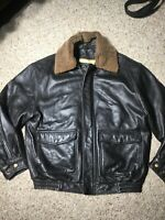 JOS. A. BANK Lamb Skin Leather bomber Jacket Signature Collection Men's Small S