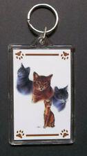 """Abyssinian Cat Key Chain ~ 2""""x3"""" ~ New"""