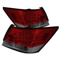 Pair LED Tail Lights Lamps 4 Door Honda Accord 2008-2012 Red Smoke Lens 1 yr War