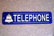 Metal Sign TELEPHONE public pay coin vintage replica phone booth prop rotary
