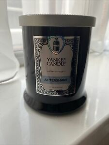 """Yankee Candle"""" Barbershop Aftershave"""" 2015 Pour, 226g Footed Tumbler , NEW"""