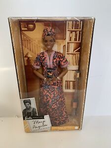 "Maya Angelou Barbie Signature Inspiring Women Series Collector 12"" Doll IN HAND"