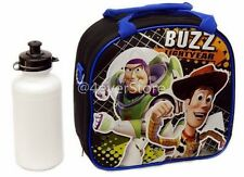 Disney Toy Story Lunch Bag w/ Shoulder Strap & Water Bottle - Black