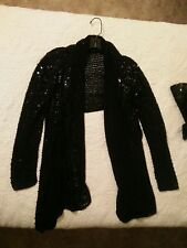 Victoria's Secret 2Piece Sequin Cropped Cardigan Top with Tube Top / L / New