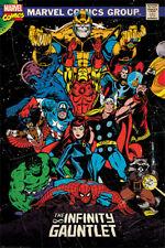 Poster Marvel retro the Infinity Gauntlet