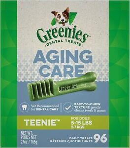 Greenies Dental Treats Senior Aging Care For Teenie Dogs 96-Count