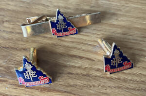 I.F.E. Queensland, Fire Officers Cufflinks + Tie Pin.